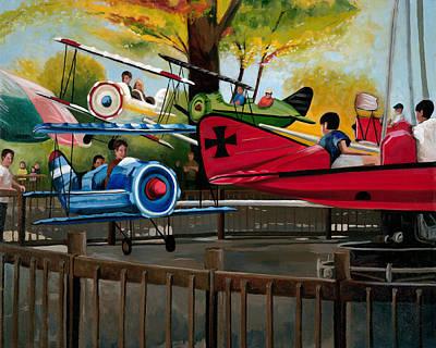 Cincinnati Ohio Painting - Dogfight by John OBrien