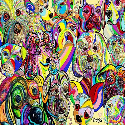 Dogs ... Dogs ... Dogs Print by Eloise Schneider