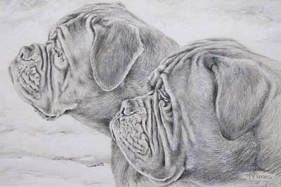 Dogue De Bordeaux Print by Keran Sunaski Gilmore