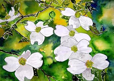 Dogwood Tree Flowers Print by Derek Mccrea