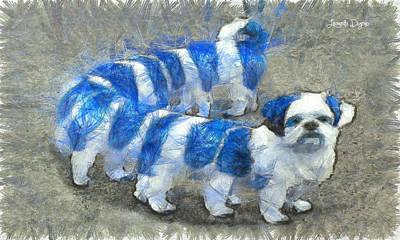 Terrier Digital Art - Dogworm - Da by Leonardo Digenio