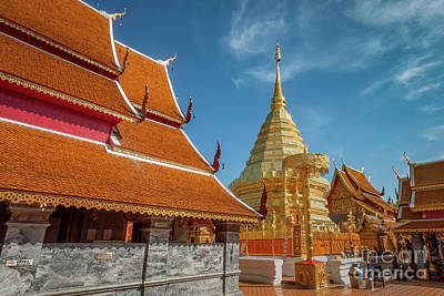 Doi Suthep Temple Print by Adrian Evans
