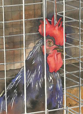 Jail Painting - Doin Time by Marsha Elliott