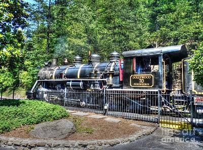 Old Caboose Digital Art - Dollywood 70 Pigeon Forge by D S Images