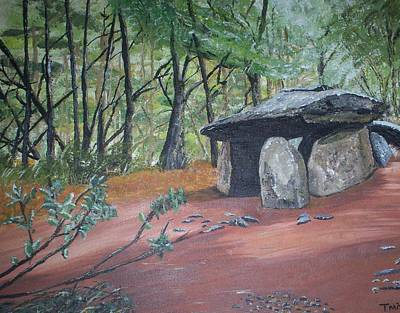 Megalith Painting - Dolmen Des Follets by Tracey Mitchell