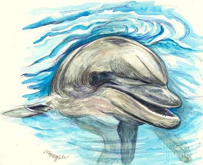 Dolphin Mixed Media - Dolphin by Morgan Fitzsimons