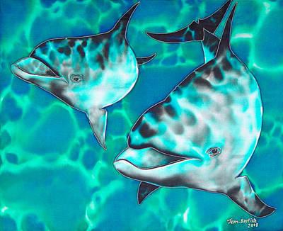 Dolphins Of Sanne Bay Print by Daniel Jean-Baptiste