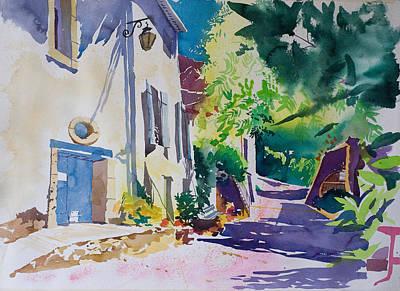 Domaine Ollier Taillefer Print by Simon Fletcher