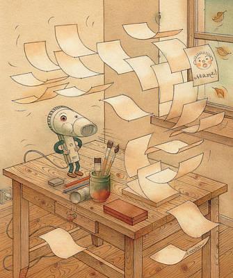 Domestic Wind Hairdryer Print by Kestutis Kasparavicius