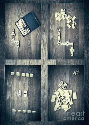 Dominos Print by Svetlana Sewell