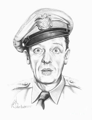 Famous People Drawing - Don Knotts by Murphy Elliott