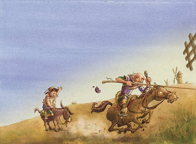 Don Quixote Print by Andy Catling