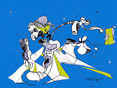 Don Quixote  Print by Tome Caupers