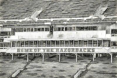 University Of Arkansas Photograph - Donald W. Reynolds Razorback Stadium by JC Findley