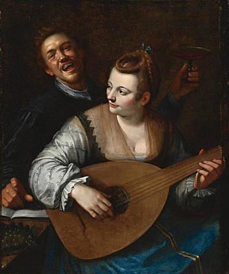 Hans Von Aachen Painting - Donna Venusta by Studio of Hans von Aachen