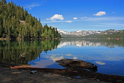Donner Lake Reflections Print by Kathy Yates