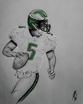 Philly Drawing - Donovan Mcnabb  by John Chattley