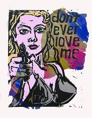 don't ever love me III Print by Adam Kissel