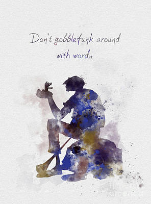 Don't Gobblefunk Around With Words Print by Rebecca Jenkins