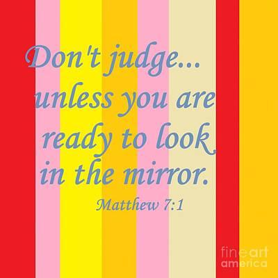 Don't Judge Print by Eloise Schneider