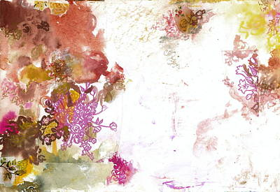 Abstract Collage Painting - Don't Send Me Flowers I  by Gloria Von Sperling