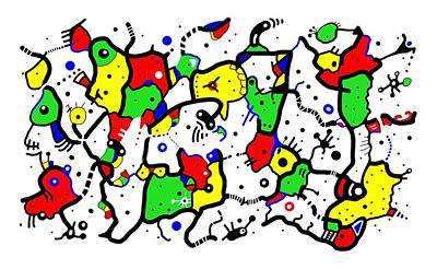 Doodle Abstract Print by Marv Vandehey
