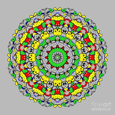 Computer Art Digital Art - Doodle Mandala 2 by Marv Vandehey