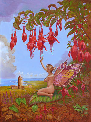 Fushia Painting - Doolin Fairy by Tomas OMaoldomhnaigh
