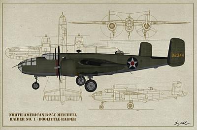 Digital Art - Doolittle Raiders - Raider One by Tommy Anderson