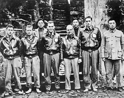 Young Man Photograph - Doolittle's Raiders In China by Underwood Archives