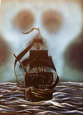 Pirate Ship Painting - Doomed by Jessie Simondi