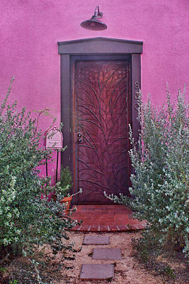 Door And Mailbox - Barrio Historico - Tucson Print by Nikolyn McDonald