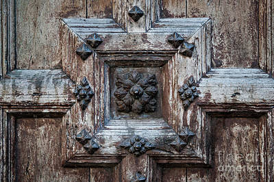 Door Fragment Of The Church Of The Jacobins Print by Elena Elisseeva