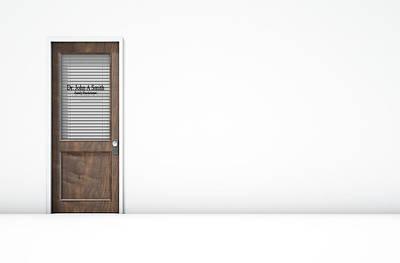 Door In Doctors Room Print by Allan Swart