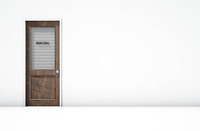 University Of Arizona Digital Art - Door In Principal Room by Allan Swart