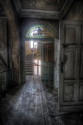 Haunted Mansion Digital Art - Door To Stairs by Nathan Wright