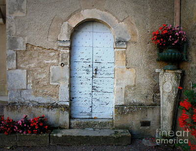 Door With Flowers Print by Lainie Wrightson
