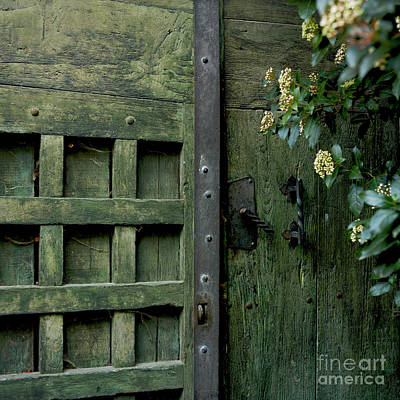 Door With Padlock Print by Bernard Jaubert