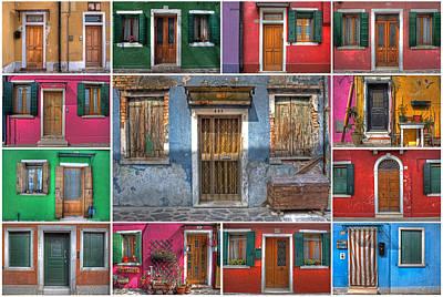 Veneto Photograph - doors and windows of Burano - Venice by Joana Kruse