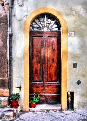 Doors Of Italy Print by Mel Steinhauer