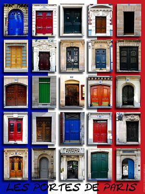 Doors Of Paris Print by Dan Colvin