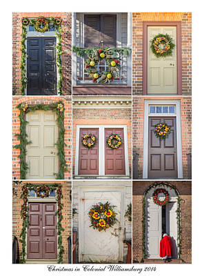Flower Photograph - Doors Of Wiliamsburg Collage 5 by Teresa Mucha