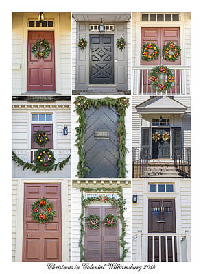 Hanukah Photograph - Doors Of Williamsburg Collage 4 by Teresa Mucha