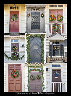 Hanukah Photograph - Doors Of Williamsburg Collage 6 by Teresa Mucha