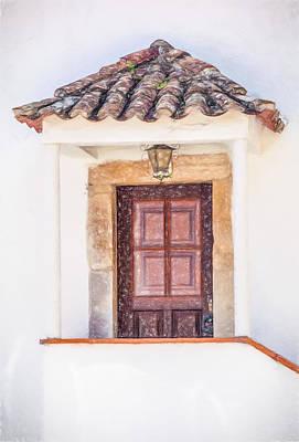 Doorway Of Portugal Print by David Letts