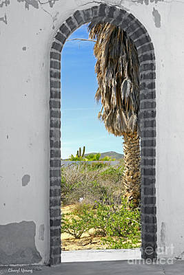 Doorway To The Desert Print by Cheryl Young
