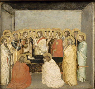 Painting - Dormition Of The Virgin by Maso di Banco