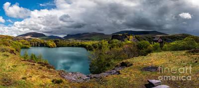 Wales Digital Art - Dorothea Quarry Panorama by Adrian Evans