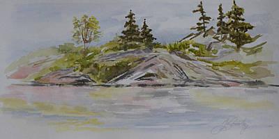Dorothy Lake Island Original by Joanne Smoley