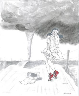 Dorothy Loves Her Chucks Print by Manon Zemanek